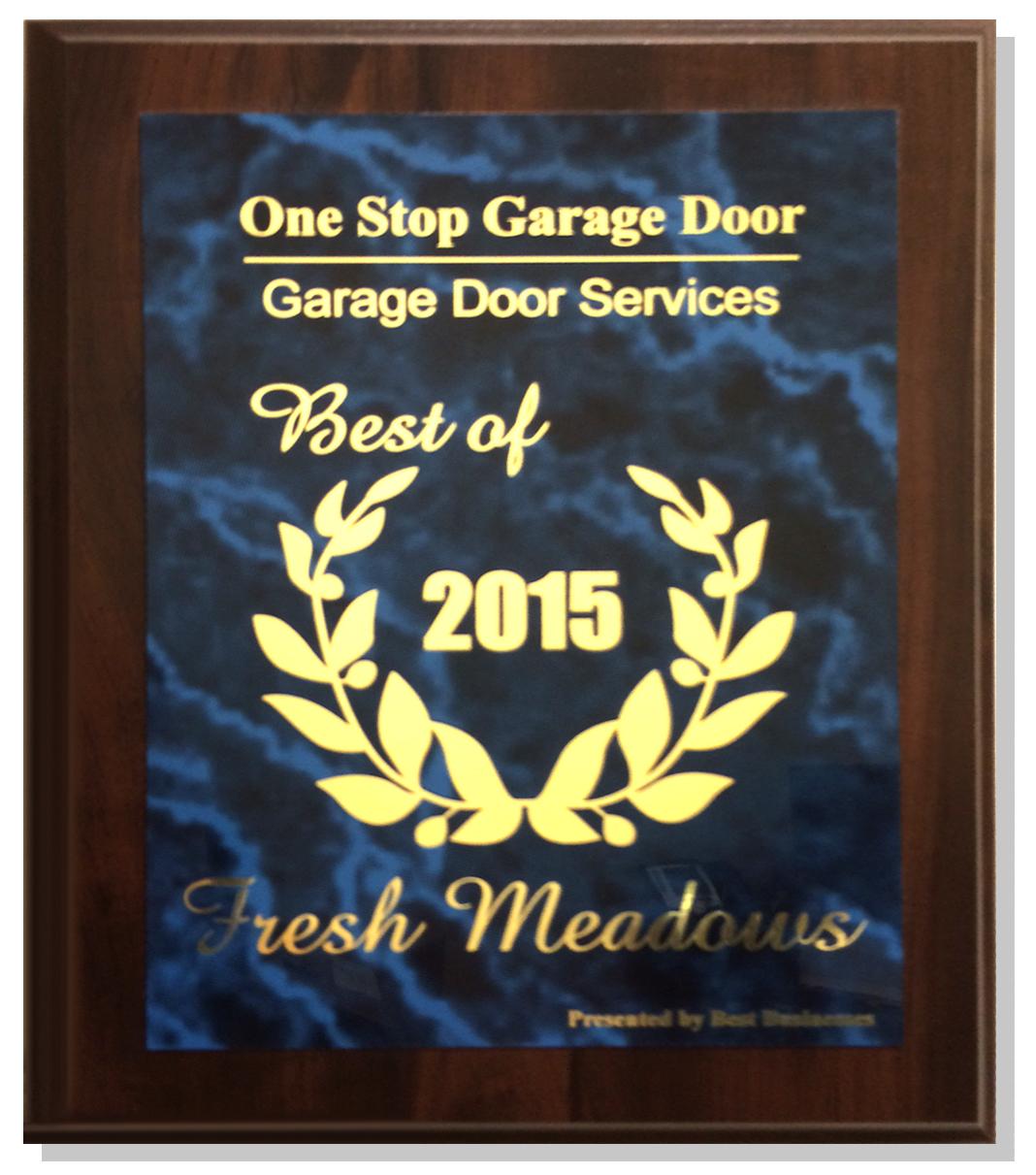 One Stop Garage Door Award